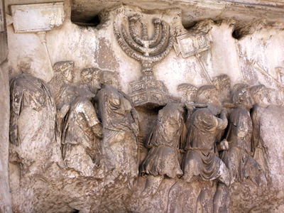 Arch of Titus - seven-branched candlestick