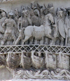 Marco Aurelio Column - Crossing of the Danube