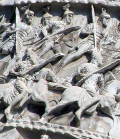 Marco Aurelio Column - Marco Aurelio advances with his cavalry