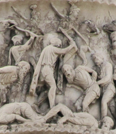 Marco Aurelio Column - Defeat of the barbarians