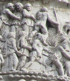 Marco Aurelio Column - Surrender of the barbarians