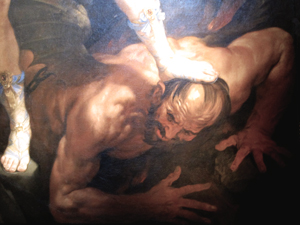 Santa Maria della Concezione - St. Michael the Archangel crushing Lucifer