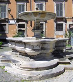Monte de' Cenci and Cenci's Palace - Fountain by Giacomo Della Porta