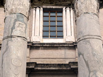 Temple of Antoninus and Faustina - columns